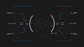Interface d'éléments de cible de paquet de collection Simulateur d'interface Image stock