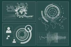 Interface d'affaires avec des graphiques illustration stock