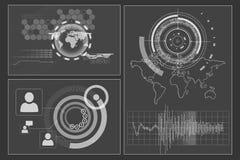 Interface d'affaires avec des graphiques illustration libre de droits