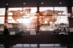 Interface d'affaires d'abrégé sur Avaitaion Photo libre de droits