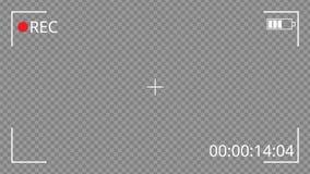 Interface d'enregistrement vidéo Illustration de vecteur illustration libre de droits