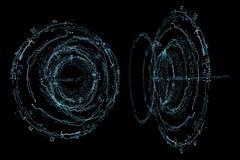 Interface de HUD Futuristic d'hologramme Photo stock