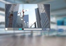 Interface de l'architecture APP de magnétoscope de ville illustration stock