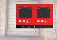 Interface de l'entrepôt APP de caméra de sécurité Photos libres de droits