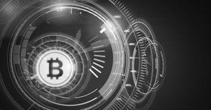 Interface de l'information de technologie de Bitcoin illustration stock