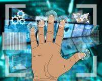 Interface de main Images libres de droits