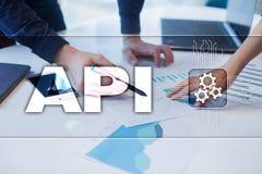 Interface de programmation API pour commandes Tempus-link Api Concept de développement de logiciel Photographie stock libre de droits