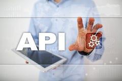 Interface de programmation API pour commandes Tempus-link Api Concept de développement de logiciel Photos stock