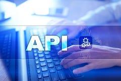 Interface de programmation API pour commandes Tempus-link Api Concept de développement de logiciel illustration libre de droits