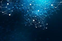 Interface de rede azul ilustração do vetor