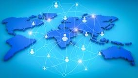 Interface de rede social Imagem de Stock Royalty Free