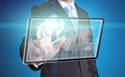 Interface de technologie d'homme d'affaires Photographie stock