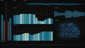 Interface de technologie de données d'analyse Photo stock