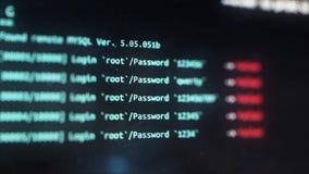 Interface de usuário do analisador de Wi-Fi na exposição de computador Conceito da tevê ilustração royalty free