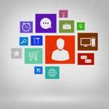 Interface de utilizador Foto de Stock Royalty Free