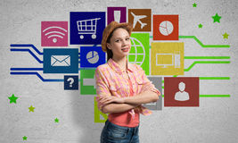 Interface de utilizador Imagem de Stock Royalty Free
