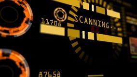 Interface de utilizador abstrata do painel de controle da tecnologia avançada Imagem de Stock Royalty Free