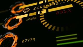 Interface de utilizador abstrata do painel de controle da tecnologia avançada Foto de Stock
