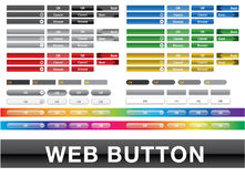 Interface de utilizador colorida coleção da Web do botão Imagens de Stock