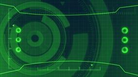 Interface de utilizador digital futurista de HUD Technology, tela de radar com uma vária comunicação empresarial dos elementos da ilustração royalty free