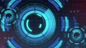 Interface de utilizador digital futurista de HUD Technology, tela de radar com uma vária comunicação empresarial dos elementos da ilustração do vetor