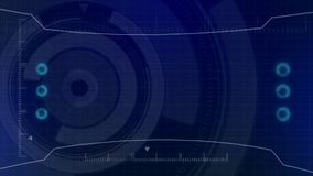 Interface de utilizador digital futurista de HUD Technology, tela de radar com uma vária comunicação empresarial dos elementos da ilustração stock