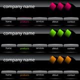 Interface de utilizador do Web site Imagens de Stock