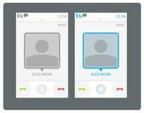 Interface de utilizador esperta do telefone do vetor Foto de Stock Royalty Free