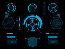 Interface de utilizador futurista HUD Foto de Stock Royalty Free