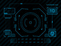 Interface de utilizador futurista HUD Imagens de Stock