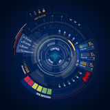 Interface de utilizador futurista HUD Fotografia de Stock Royalty Free