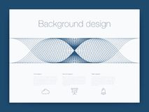 Interface de utilizador futurista Vetor do fundo da tecnologia de UI Foto de Stock Royalty Free
