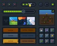 A interface de utilizador para o jogo Fotos de Stock