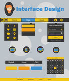 Interface Design Illustration Stock Images