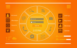 Interface design UI vector Royalty Free Stock Image