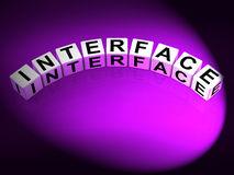 Interface Dice Represent Integrating Networking and Interfacing Royalty Free Stock Photos