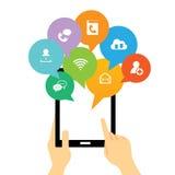 Interface en ligne de Tablette Image libre de droits