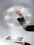 Interface en Tablet royalty-vrije stock afbeeldingen