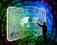 Interface et silhouette Image libre de droits