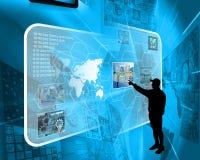 Interface et silhouette Images libres de droits