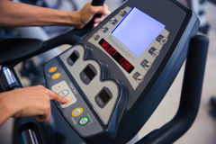 Interface of fitness machine Stock Photos