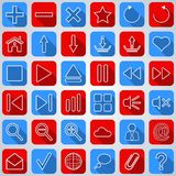 Interface flat icons Royalty Free Stock Photo