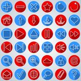 Interface flat icons Royalty Free Stock Photography