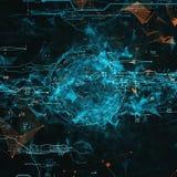 Interface futuriste d'hologramme Image libre de droits