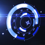 Interface futuriste de HUD Target UX UI illustration libre de droits