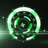 Interface futuriste de HUD Target UX UI illustration stock