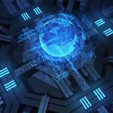 interface futuriste de l'hologramme 3d Image libre de droits