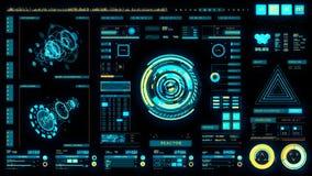 Interface futuriste   HUD   Écran de Digital illustration de vecteur