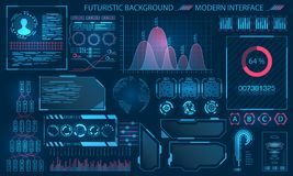 Interface futuriste HUD Design, éléments d'Infographic Images libres de droits