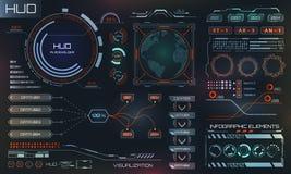 Interface futuriste Hud Design, éléments d'Infographic, technologie et la Science, thème d'analyse illustration stock